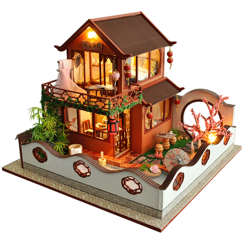 DIY Wooden Doll House Miniaturas Kits 1:24 Scale