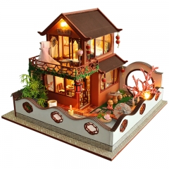 Cutebee Diy Dollhouse Miniature Kit with Furniture, Wooden Mini Miniature Dollhouse kits, Casa Miniatura Dolls House  Chinese Style