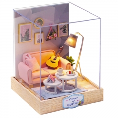 Cutebee Diy Dollhouse Miniature Kit with Furniture, Wooden Mini Miniature Dollhouse kits, Casa Miniatura Dolls House Plus Dust Proof Toys for Kids