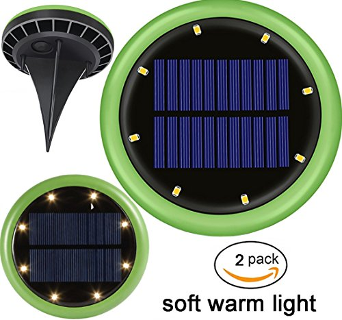 Latta Alvor Solar Power LED Ground Lights, 8 LED Solar Garden Pathway Lights (3.7V ,1200mAh rechargeable battery)for Outdoor Solar Landscape Path Yard