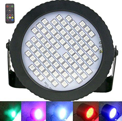 88 LED Par Lights, Latta Alvor Mini Stage Lights Color Disco Lights DMX Control Strobe Light for Parties Dj Lights with Sound Activated & Remote C