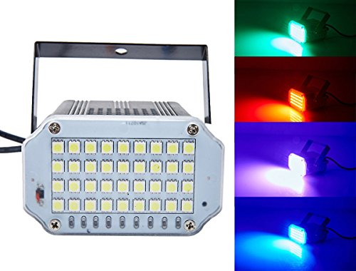 36 LED Mini Strobe Light,Latta Alvor Ultra Bright Stage Light Flash Strobe Lights with Sound Activated and Speed Control for Party Wedding DJ Disco KT