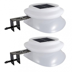 Solar Gutter Lights, Latta Alvor Outdoor Garden Solar Power LED Pathway Waterproof lightning for Fence Landscape Yard Street Auto-induction ON/OFF Dri