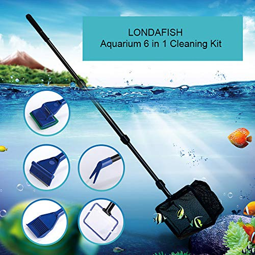 LONDAFISH Cleaning Tools for Aquarium Cleaning Kit for Fish Tank Glass Tank Cleaning kit 6-in-1