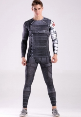 Mens Compression Running Gym Clothes Set Cosplay Set, Pants & Shirt