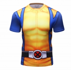 Men's Superhero Shirt Sports Fitness T-Shirt Party/Cosplay Short Sleeve