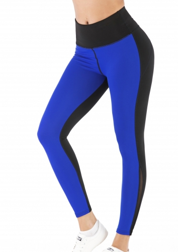 Women's High Waist Leggings Soft Stretchy Warm Control Workout Stitching Color Pants for Women