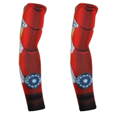 Red Plume Men's UV Protection Heros Printed Cycling/Running, Hiking/Golf/Fishing/Football Arm Sleeve