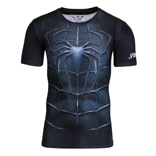 Men's Compression Tight Fitness Shirt,Spider Armor Sports T-Shirt