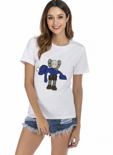 Women's Basic Style T-shirt KAWS T-Shirts Crew Neck Cotton T-Shirt Summer Short Sleeve T-Shirt Casual T-Shirt