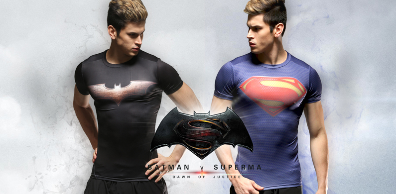 Superhero Superman Batman T-Shirt