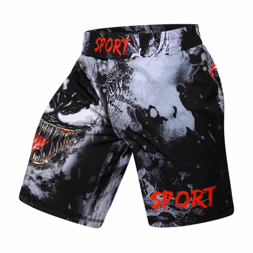 Red Plume Men's Fitness Training Short Pants Casual Classic Shorts Beach Walk Running Pants Cropped Elastic Waist Trousers Quick-drying Pants