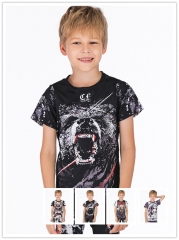 Boy's Compression Sports Fitness Shirt Running Shirt Base Layer T-Shirts 3D Printing Shirt Quick Dry Short Sleeve Tee