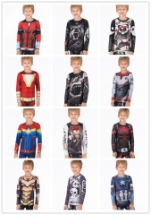 Boy's Compression Sports Long Shirt Base Layer Long Sleeve Kids Sport Running T-Shirt Quick Dry Outdoor Long Sleeve Tee