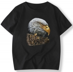 Men's Summer Short Sleeve T-Shirt Owl Printing T-Shirt Crew Neck Cotton T-Shirts Sport T-Shirt 2/Colours