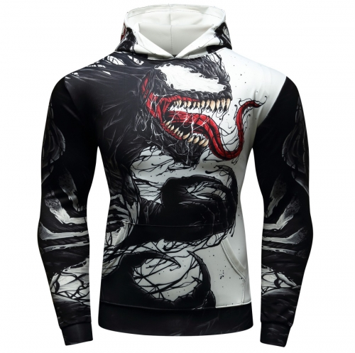 Men's Pullover Hoodies Venom 3D Printing Hoodie Adult Shirt Fashion Hoodie Sports Sweater
