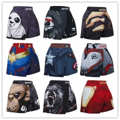 Boy's Fitness Short Pants Fighting Training Shorts Elastic Waist Trousers Leisure Relaxed Beach Pants Dry Pants
