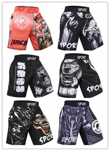 Men's Fitness Training Short Pants Fighting Training Trousers Casual Classic Shorts Beach Pants Dry Pants Baggy Shorts