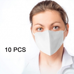 White Face Masks10 PCS Anti Pollution Dust Mask KN95 3-Ply Face Masks Breathable Earloop Industrial Masks Suitable