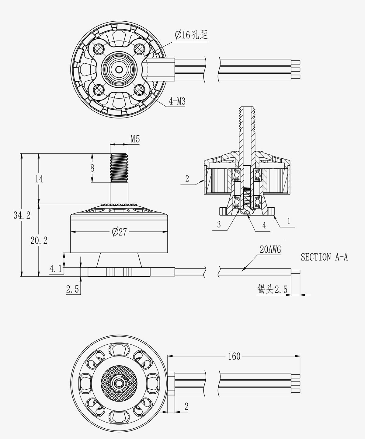 Buy Brotherhobby Speed Shield 2207 5 V3 Brushless Motor In