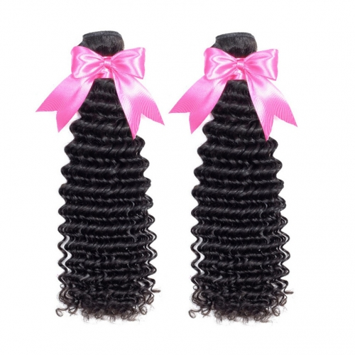 2 Bundles Deep Wave Best Fast Delivery Virgin Remy Hair Weave