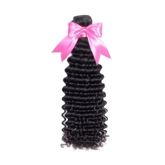 1 Bundle Deep Wave Hair Weaves Virgin Hair Hair Products Top Grade Real Virgin