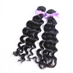 2 Bundles Natural Wave/Wavy Hair Wholesale Human Hair Bundle 100% Unprocessed Virgin