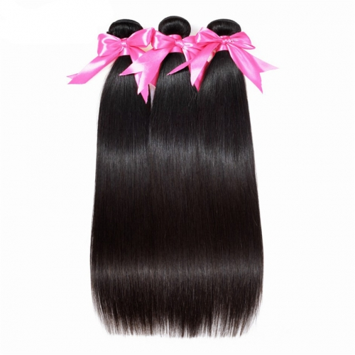 3 Bundles Straight Hair Factory In China Cheap Natural 100% Best Quality Virgin Straight Hair Weft