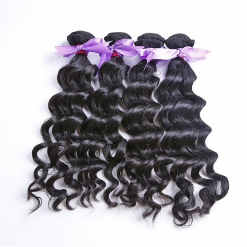 4 Bundles Natural Wave Wavy Sew In Weave Natural Raw Cheap Natural Raw Virgin Unprocessed Human Wavy Hair