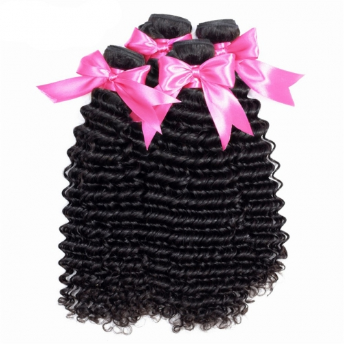 4 Bundles Deep Wave  Best Selling For Black Women Natural Curly Wholesale Hair Extension