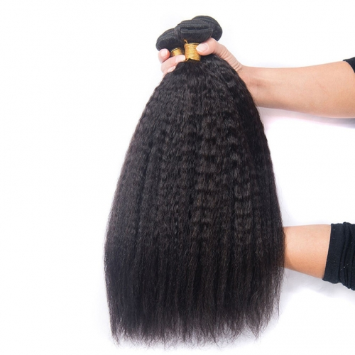 3 Bundles Kinky Straight 100% Raw Unprocessed Best Quality Virgin Kinky Straight Hair Weft