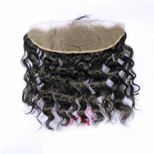 13x4 Water Wave Lace Frontal With Baby Hair And Bleached Knots 100% Human Hair