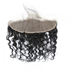 13x4 Natural Wave Wavy HD Transparent Lace Frontal With Bady Hair Best Selling 100% Human Hair  Wholesale Factory Price