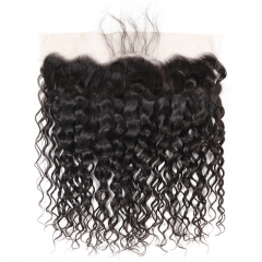 13x4 Deep Wave / Curly Lace Frontal Cheap Price No Damage New Products 100% Human Hair Bleached Knots 13x4