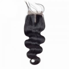 4x4 Lace Closure Body Wave cheap Factory wholesale price bleached knots top quality virgin