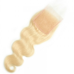 613 4x4 Lace Closure Body Wave Light Brown Lace Human Hair Natural Headline Pre Plucked Hairline