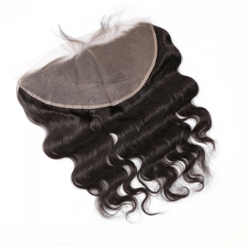 13x6 Body Wave Lace Frontal Hand Tied Natural Headline No Chemical Processing