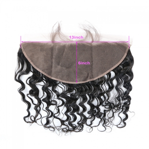 13x6 Wavy Natural Wave Lace Frontal Natural Headline Hand Tied Pre Plucked Hairline Suitable Dying Colors