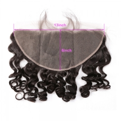 13x6 Loose Wave Lace Frontal Suitable Dying Colors Virgin Hair No Shedding No Tangle Swiss Lace
