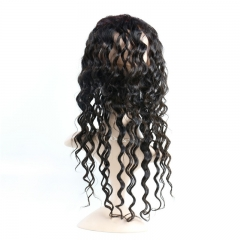 360 Lace Band Frontal Natural Wave Wavy Can Be Permed No Shedding No Tangle Pre Plucked Hairline Hand Tied