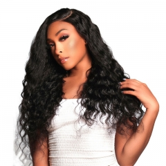 Natural Wave Wavy Lace Front Wig Bleached Knots Suitable Dying Colors With Baby Hair Pre Plucked Hairline