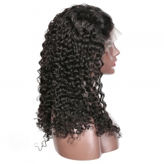 Deep Wave Curly Lace Front Wig 300% Density No Chemical Processing No Shedding No Tangle Bleached Knots Natural Headline