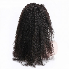 Kinky Curly 360 Lace Front Wig 180% Density Natural Headline Can Be Permed Human Hair Natural Color