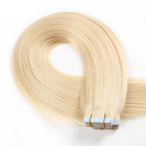 613# 100G Tape In Human Hair Extensions Straight Machine Remy Hair On Adhesives Invisible Tape PU Skin Weft