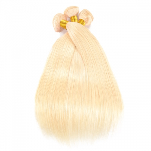 613 Color Straight Hair Virgin Hair Bundle Deals Blonde Human Straight Hair 1 Bundle 2,3,4 Bundles
