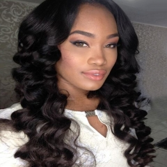 Loose Wave Lace Front Wig Pre Plucked Hairline Can Be Permed With Baby Hair Bleached Knots