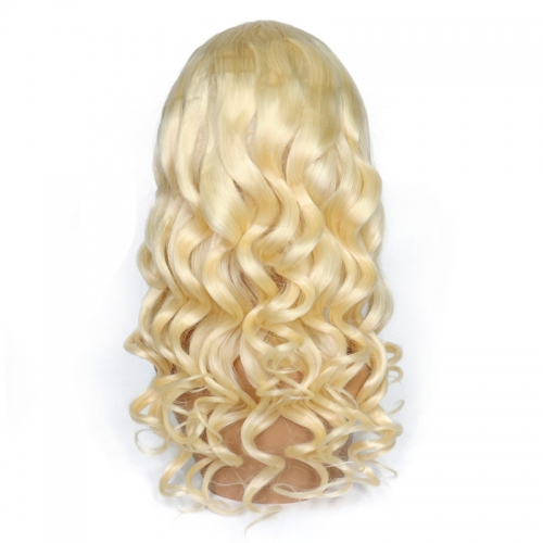 Color Full Lace Wig Loose Wave 613# Color Top Quality With Baby Hair Blonde Color Wig 130% Density