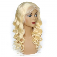 Loose Wave Color 613# Lace Front Wig Natural Headline Remy Hair No Chemical Processing