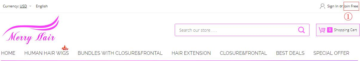 How to register merryhair a member?