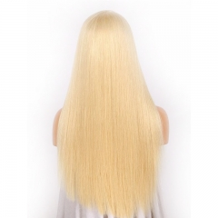 Color Full Lace Wig 613# Color Top Quality With Baby Hair Blonde Color Wig 130% Density